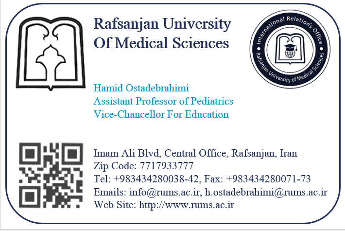 sample of visiting card of faculty members